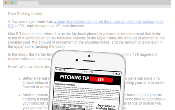 Steven Ellis' pitching tips newsletter