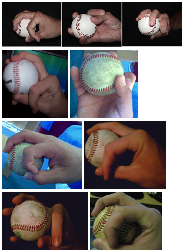 Changeup grip images