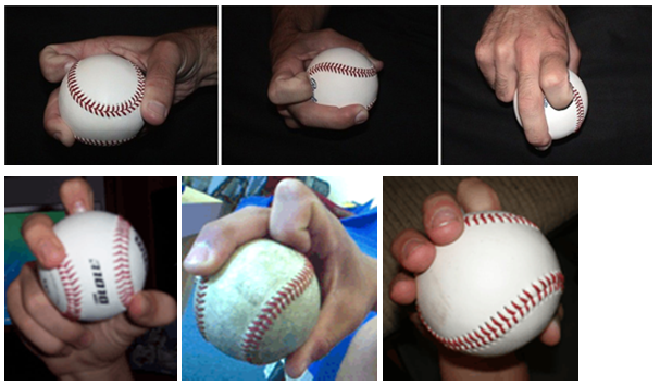 Curveball grip images