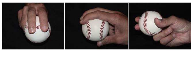 Four-seam fastball grip images