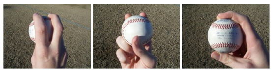 Four seam fastball grip