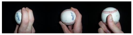 Two-seam fastball grip