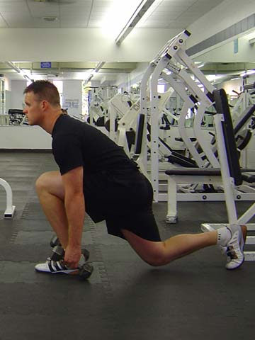 Pitchers Workout Lunge Exercise Image