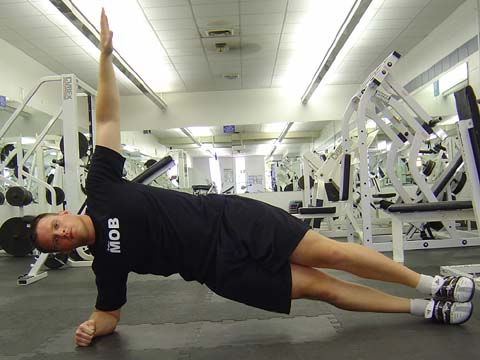 Pitchers workout Side Plank exercise image