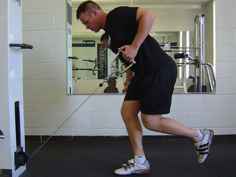 Pitchers workout Single Leg Cable Row exercise image