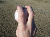 four seam fastball grip photo