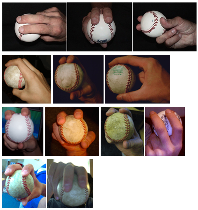 Two-seam fastball grip images